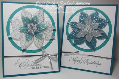 Stained glass poinsettia  - two cool