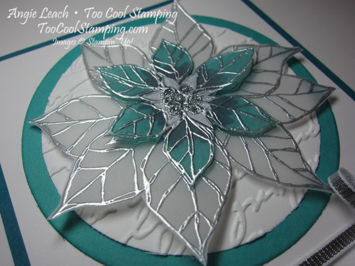 Stained glass poinsettia  - white blessings2