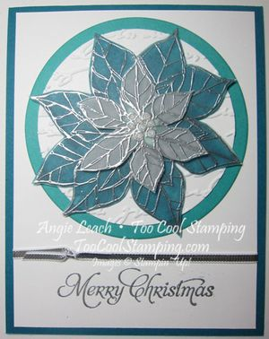 Stained glass poinsettia  - merry indigo