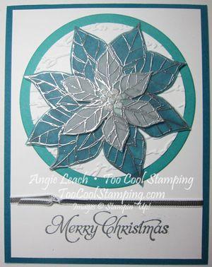 Stained glass poinsettia  - merry indigo