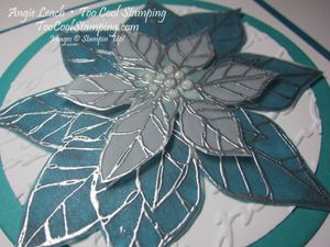 Stained glass poinsettia  - merry indigo2