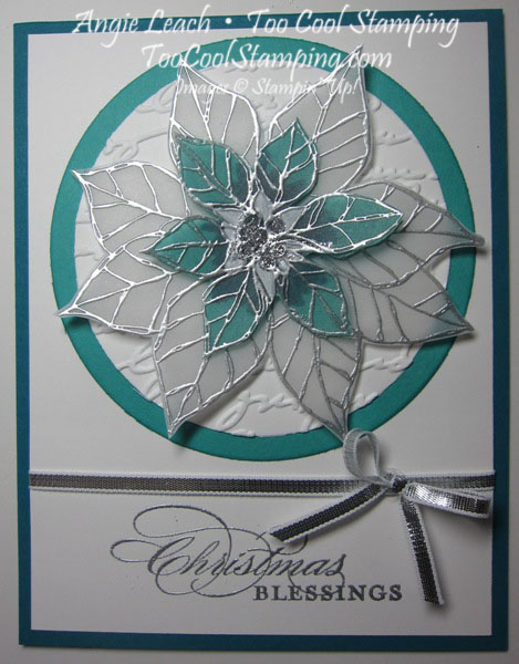 Stained glass poinsettia  - white blessings