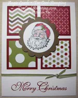 Santa - four squares