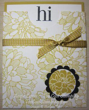 Envelope Pouch Note Cards - dahlias