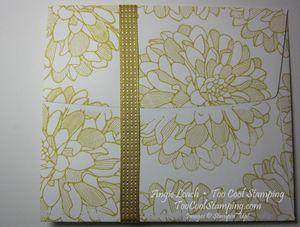 Envelope Pouch Note Cards - dahlias 5
