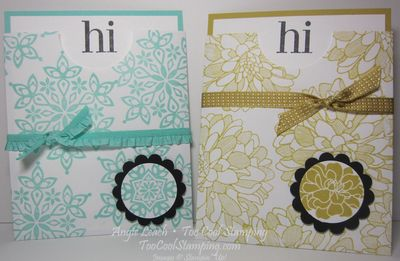 Envelope Pouch Note Cards - two cool