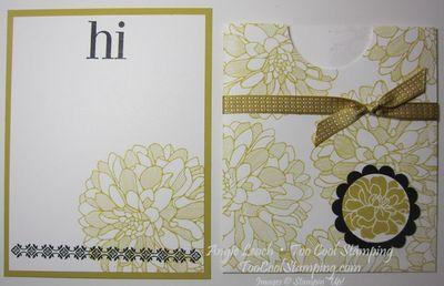 Envelope Pouch Note Cards - dahlias 4