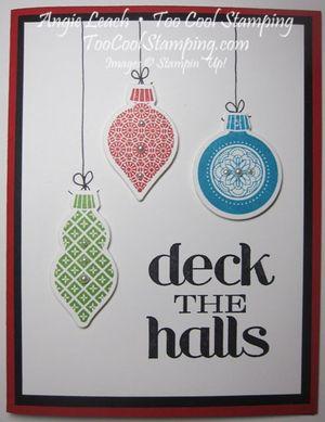 Deck the halls keepsakes - ornaments