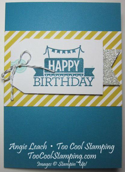 Note 12 - indigo plain birthday
