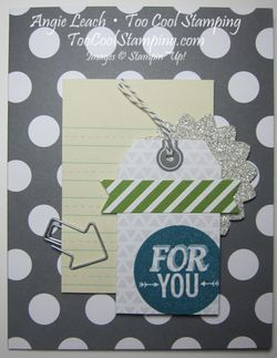 Card 15 - gray polka