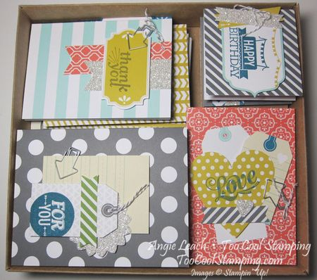 Box of finished cards
