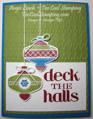 Deck the halls - red
