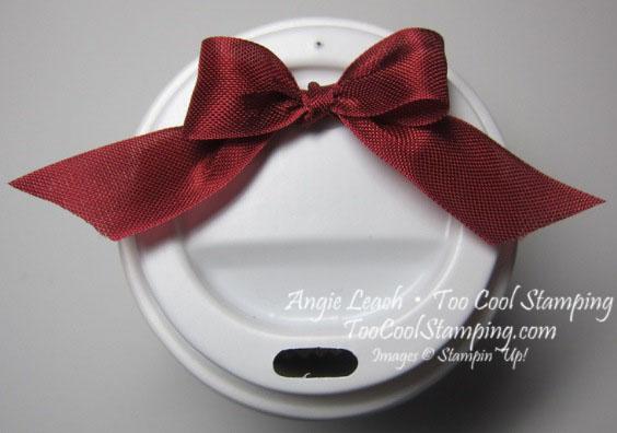 Mini coffee cups - top bow