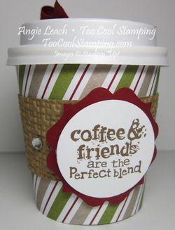 Mini coffee cups - label bracket front
