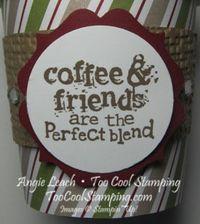 Mini coffee cups - label bracket