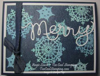 Merry snowflakes