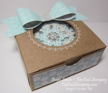 Snowflake ornament box