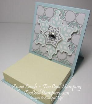 Mini note holder - sky gray