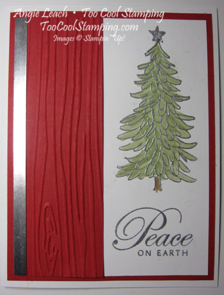 Peaceful evergreen - red
