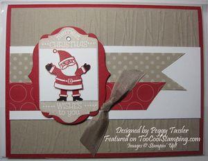 Peggy - santa tag card copy