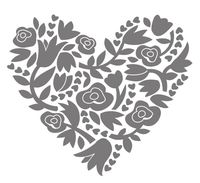 Flowerful heart 134617G