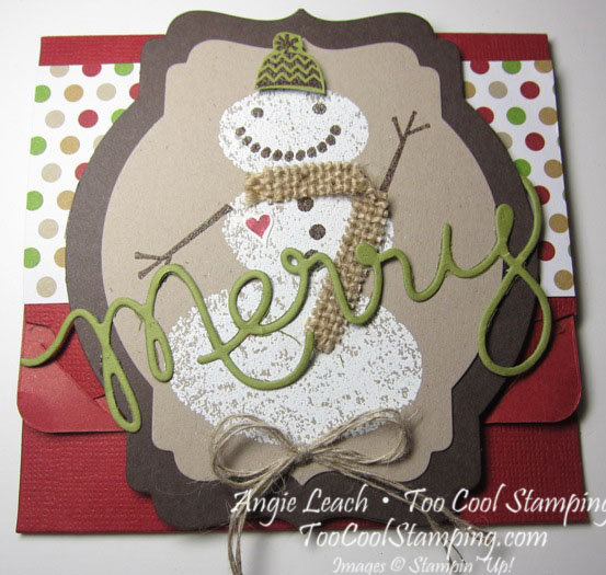 Snow day gift card holder - front