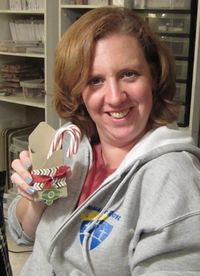 Darla with candy cane holder