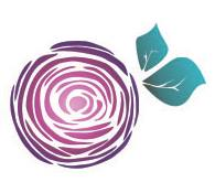 Simply folded roses logo