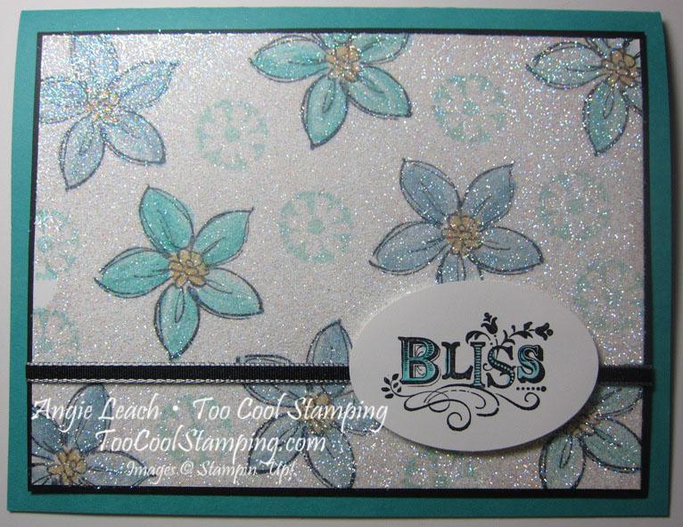 Bliss sab flower - glitter