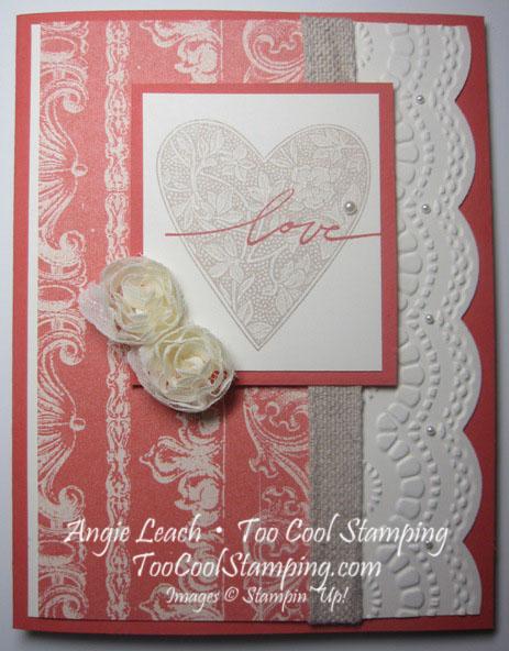 Love coral - heart