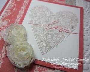 Love coral - heart 2