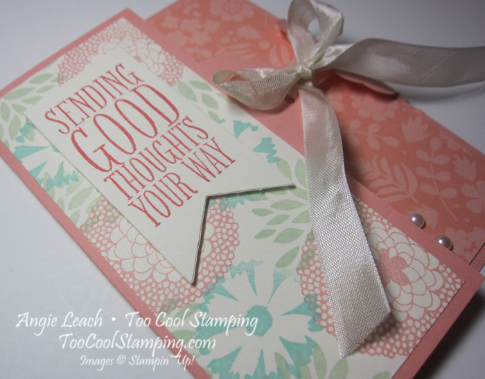 Scallop gate cards - cantaloupe 2