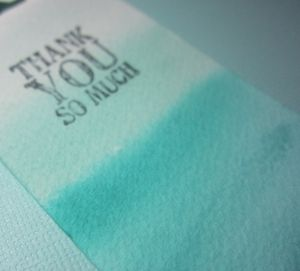 Dip dyed bookmarks - wash 1