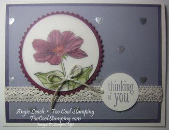Peaceful petals purple - plum silver