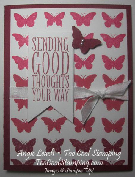 Butterfly ombre - raspberry ripple