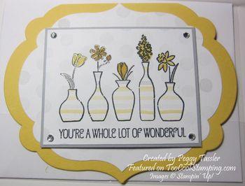Peggy - vivid vases label shape copy