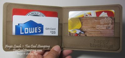 Gift card wallet - open 4