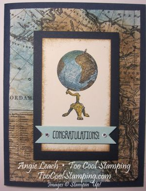 Map globe - distressed 1