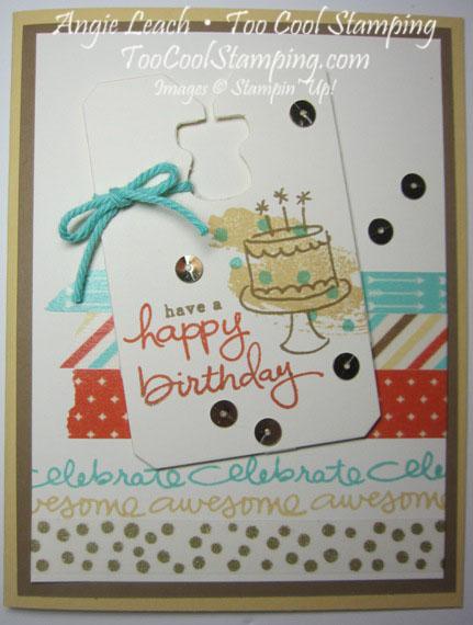 Retro washi - birthday