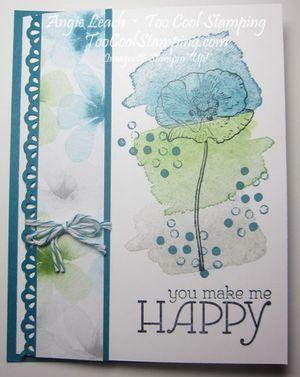 Happy watercolor tro - indigo