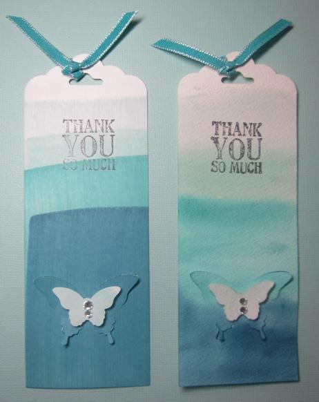 Dip dyed bookmarks