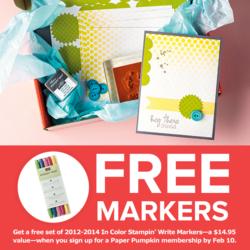 Free markers - paper pumpkin