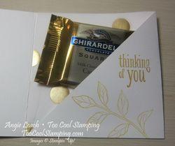 Peaceful treat holder - gold 4