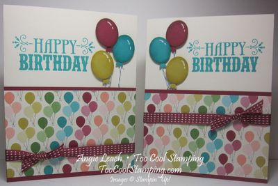 Birthday balloons - two cool