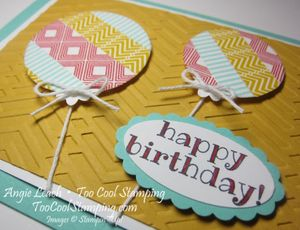 Washi balloons - two 2
