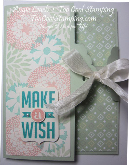 Scallop gate cards - pistachio