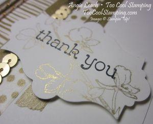 Gold washi - thanks 2