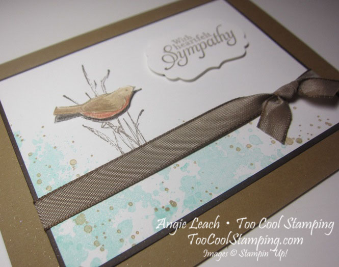 Simply sketched bird - suede 2