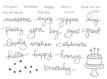 Endless birthday wishes stamp images