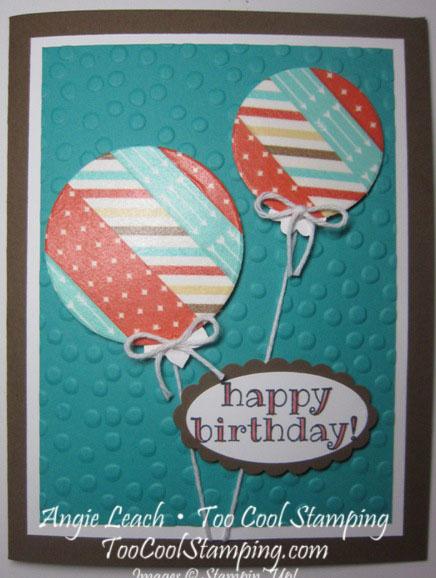 Dad bday balloon card